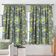 Amazon Com Sanring Kids Bocking Ight Rod Curtains Outer Space Theme Galaxy Art 104 X72 For Baby Bedroom Kitchen Dining