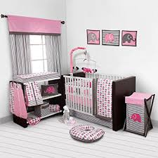 crib bedding set nursery baby girl 4 pc