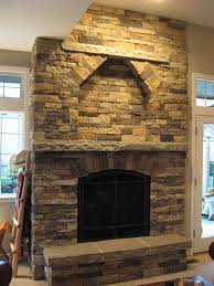 river rock stone fireplace fireplace
