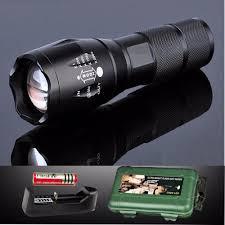 Đèn pin Police AMY XML-T6 MỚI siêu sáng Tặng Bộ sạc và pin sạc, Hộp Nhựa  Chống Sốc - BH 1 ĐỔI 1