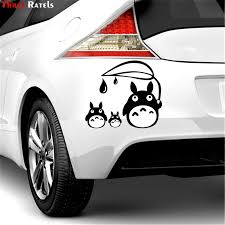 Three Ratels Fd33 Totoro Sticker Studio Ghibli Wall Laptop Die Cut White Car Sticker Decal For Wall Suitcase Door Kid S Room Wall Stickers Aliexpress