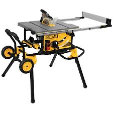 10 Jobsite Table Saw 32 1 2 82 5cm Rip Capacity And A Rolling Stand Dwe7491rs Dewalt