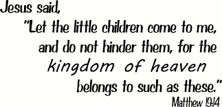 Amazon Com Matthew 19 14 Wall Art Jesus Said Let The Little Children Come To Me And Do Not Hinder Them For The Kingdom Of Heaven Belongs To Such As These Creation Vinyls Everything