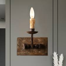 rustic candle distressed wall lamp 1 2
