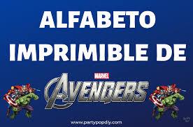 Alfabeto Avengers Imprimibles Gratis Party Pop
