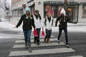 Shoppers, from left, Avery Willett, 14, Megan Connors, 14,... 490495 -  GreenwichTime
