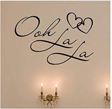Dailinming Pvc Wall Stickers Ooh La La Paris France Hearts Love Quote Vinyl Wall Decal Decor Art Sticker 58x38cm Amazon Com