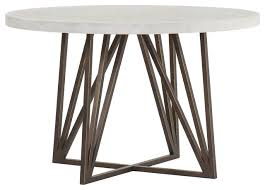 concrete top metal dining table