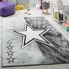 Grey Star Rug Girl Boy Bedroom Carpet Designer Baby Kids Children Room Play Mat 39 99 Picclick Uk