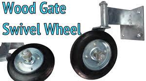 Swivel Wheel Wood Gate Helper Wheel Gate Parts
