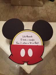 Tarjeta Invitacion Para Cumpleanos Mickey Mouse 2 400 En