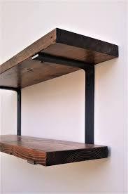 double wall mounted shelf bracket set
