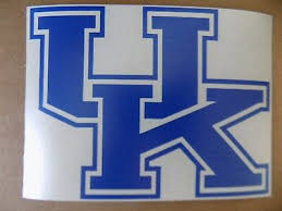 University Of Kentucky Wildcats Uk 3 White Or Blue Vinyl Decal Truck Car Window 2 55 Picclick