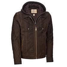 wilsons leather mens vintage hooded