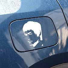 Exterior Accessories 10 5cmx13cm Kung Fu Actor Bruce Lee Vinyl Decal Car Sticker Black Silver Hitada Itrainkids Com