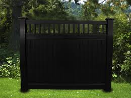 Black Vinyl Privacy Picket Top Fence 6 Ft X 6 Ft Posts Purchased Seprately Fence Material