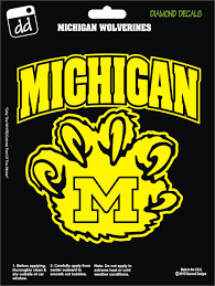 Michigan Wolverines Claw College Football Decal Vinyl Sticker Car Truck Laptop Phone Window Football Decal Michigan Wolverines Wolverines