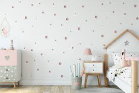 Rose Gold Dots Decal Rosegold Dots Various Sizes Wall Decals Nursery Circles Stickers Polka Dot Wall Stickers Nursery Wall Art In 2020 Polka Dot Walls Nursery Wall Decals Girl Nursery Room