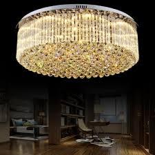 clear crystal drum flush mount light