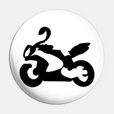 motorbike rider motorbike gifts pin