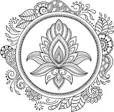 Amazon Com Beautiful Lotus Mandal Flower With Paisley Floral Frame Icon Vinyl Sticker 8 Tall Automotive