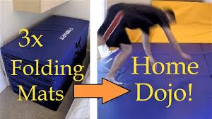 home jiu jitsu mat area using