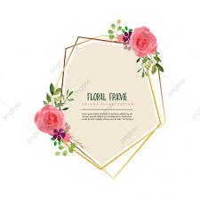 مرسومة باليد إطارات ذهبية زهور نبات ألوان مائية Png والمتجهات