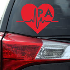 Pa Vinyl Decal Physician Assistant Decal Nurse Decal Etsy