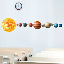 Solar System Planet Wall Sticker Kids Room Background Mural Art Home Decorations Ebay