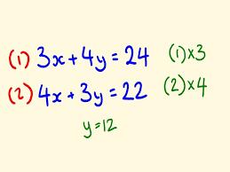 simultaneous equations math lesson