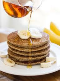 banana oatmeal pancakes making thyme