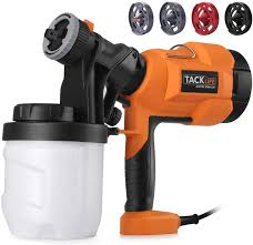 Tacklife Paint Sprayer 400w 3 Modes 900ml Container 800 Ml Min Electric Paint Gun 4 Nozzle For Painting Walls And Ceilings Sgp15ac Amazon Co Uk Diy Tools
