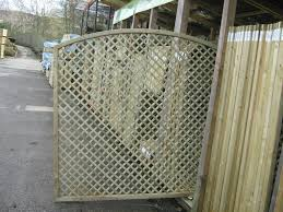 Arched Continental Fence Panels Trellis Arched European Lattice Chesterfield Sheffield Mansfield Bakewell Matlock Yorkshire Derbyshire Notts Riverside Garden Centre