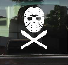 Jason Voorhees Friday The 13th Vinyl Decal Sticker Wish
