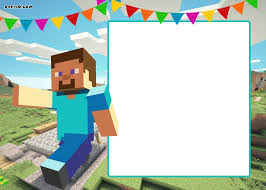 Free Printable Minecraft Birthday Invitation Template Update
