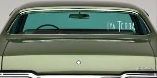 Vinyl Window Decal Iya Terra