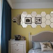 48pcs 3d Mirror Hexagon Vinyl Removable Wall Sticker Decal Home Decor Art Diynew Home Garden Children S Bedroom Girl Decor Decals Stickers Vinyl Art