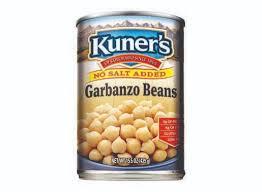 garbanzo beans no salt added 15oz