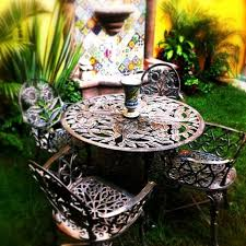 rustic patio iron furniture