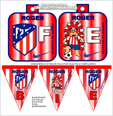 Kit Imprimible Promo Atletico De Madrid Cumple Invit 90 00 En
