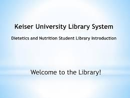 ppt keiser university library system