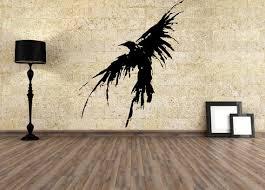 Wall Vinyl Decals Raven Bird Viking Runes Sticker Kids Room Etsy