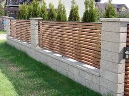 Block Wall N Wood Privacy Fence Designs Modern Fence Design Fence Design