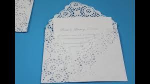 Invitacion Elegante Doily Envelope Youtube