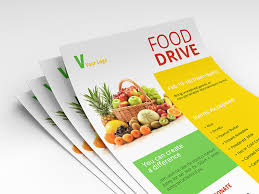 food drive psd flyer template free