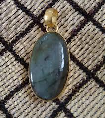 natural labradorite gemstone pendant