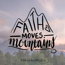 Faith Moves Mountains Faith Decal Faith Sticker Faith Etsy