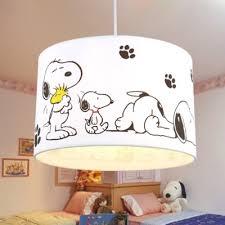 Drum Shade Pendant Lamp With Cartoon Dog Baby Kids Room Fabric Single Light Pendant Light Takeluckhome Com
