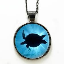 sea turtle necklace cactus ocean beach