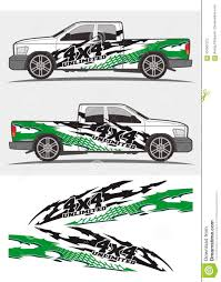 Cool Green Tribal Decal Graphics Kits Design For Trucks And Car Stock Vector Illustration Of Checkered Decoration 107007373